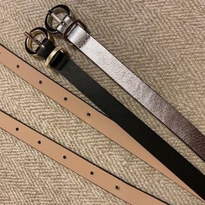 TWO H&M Belts in Size L